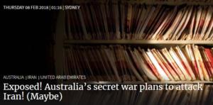 افشای توافق سری استرالیا و امارات برای حمله به ایران؟