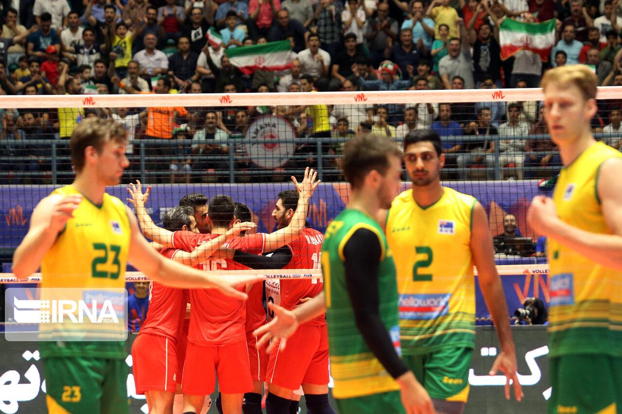 روز خوب والیبال ایران با پیروزی مقابل استرالیا