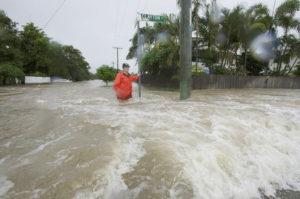 باران بی سابقه و جاری شدن سیل در یکی از شهرهای کوئینزلند