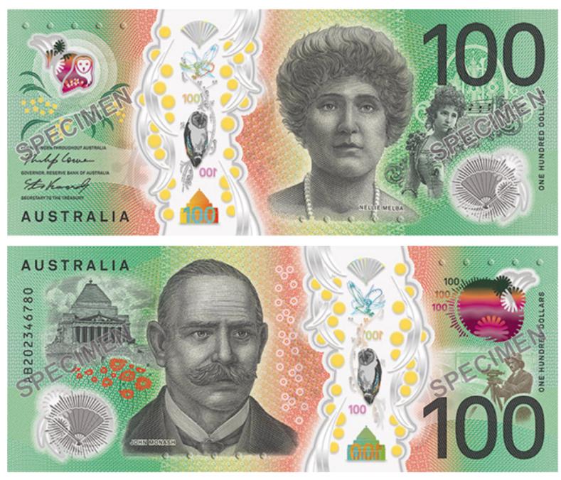 رونمایی از طرح جدید 100 دلاری در استرالیا