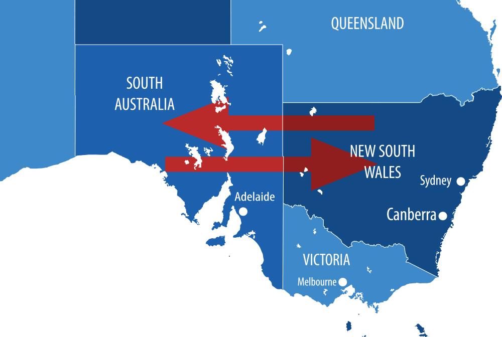 بازگشایی مرز میان دو ایالت استرالیای جنوبی و نیوساوت ولز از امروز