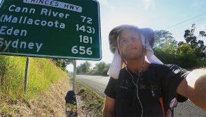 سفر 4 هزار کیلومتری یک استرالیایی با اسکیتبرد
