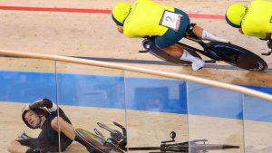 حادثهای که باعث به دست آوردن مدال برای تیم دوچرخه سواری استرالیا شد