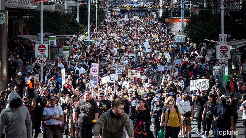 نگرانی از شیوع شدید کرونا پس از تظاهرات دیروز در ملبورن