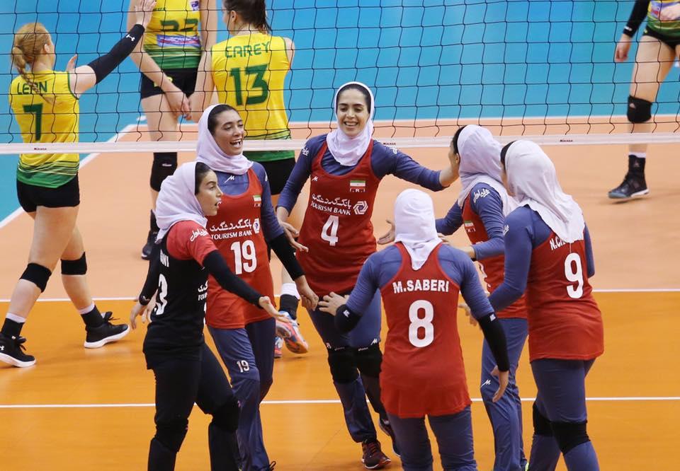 تیم ملی والیبال زنان ایران دوبارهاسترالیارا شکست داد