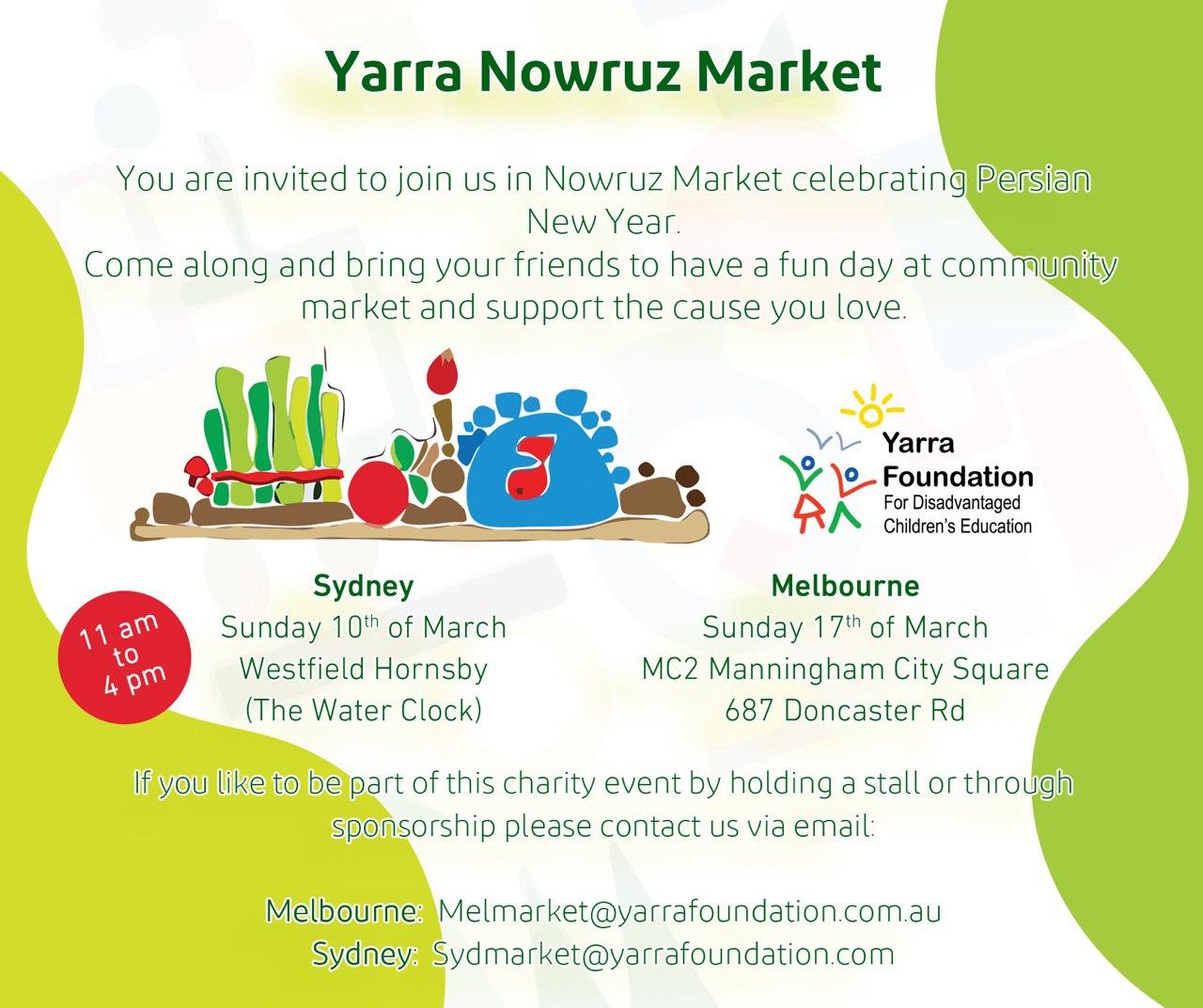 بازارچه نوروزی یارا در سیدنی و ملبورن