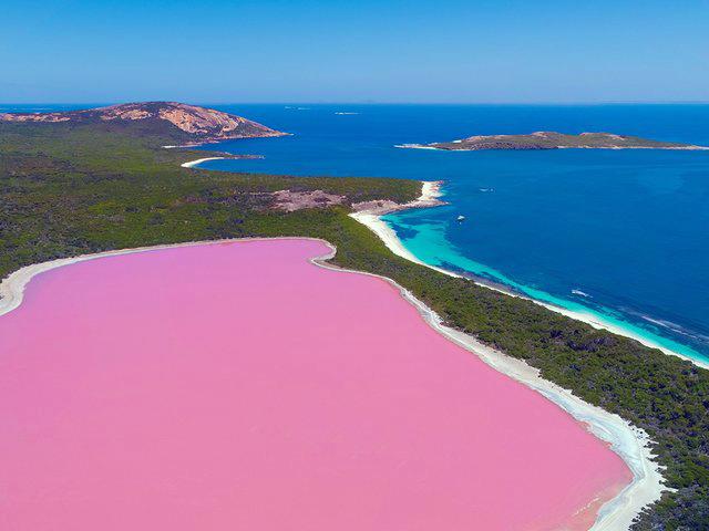 """""""هیلیر"""" دریاچه ای استثنایی در استرالیا"""