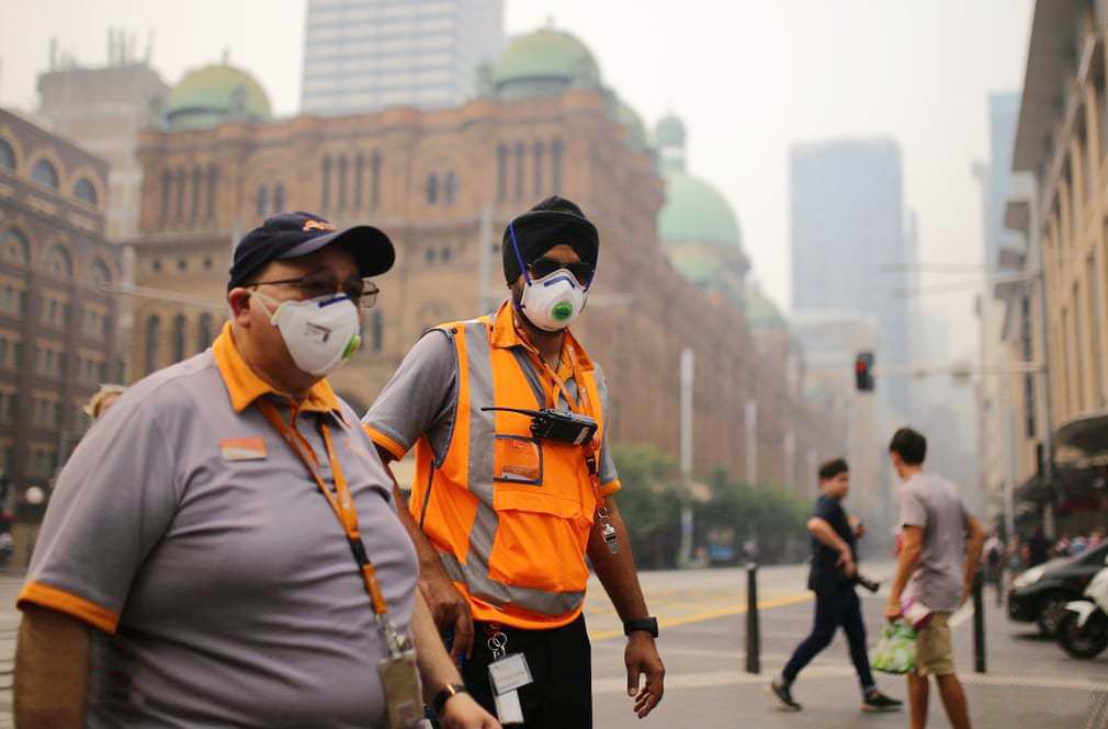 """اعلام """"وضعیت اضطراری عمومی"""" به دلیل آلودگی هوا در سیدنی"""