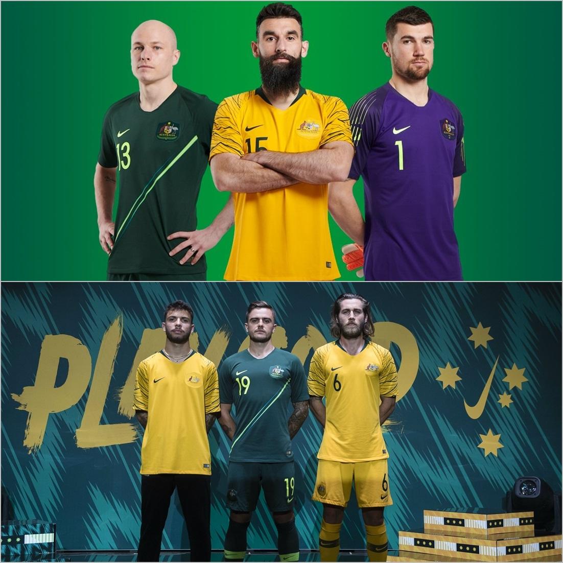 رونمایی از لباس تیم ملی استرالیا برای جام جهانی