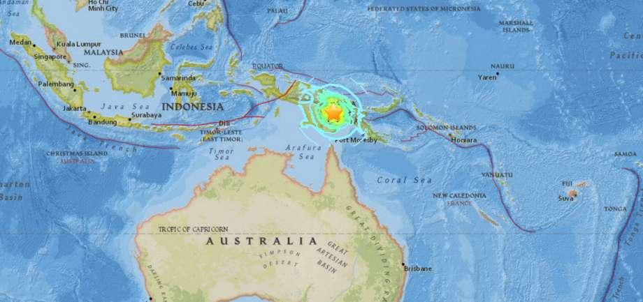 بیش از ۳۰ کشته و ۳۰۰ مجروح در زلزله پاپوا گینه نو