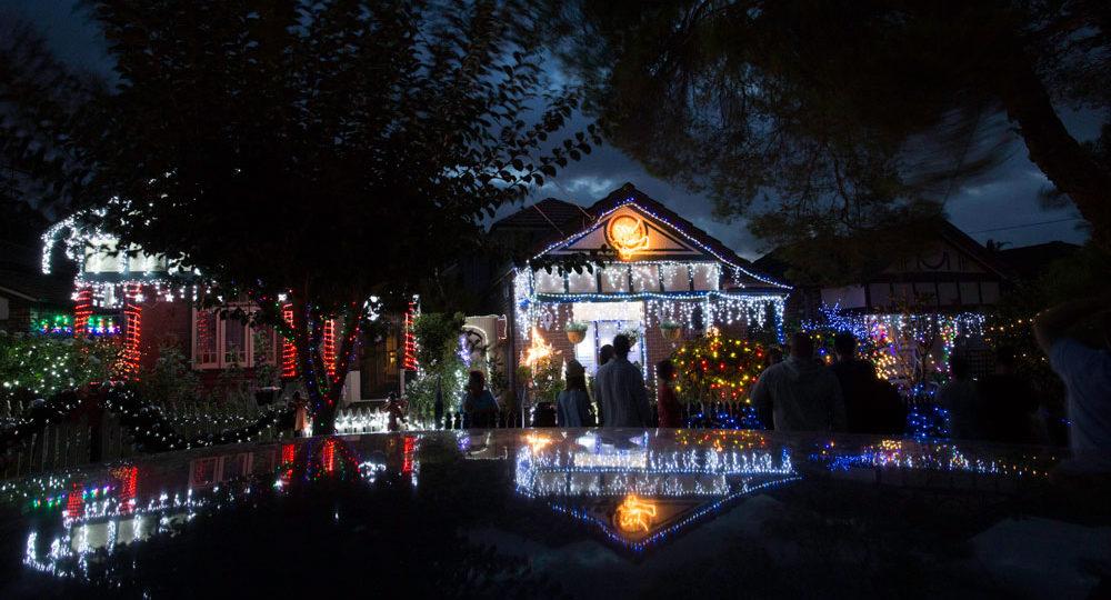 چراغانی کریسمس در یکی از خیابان های سیدنی