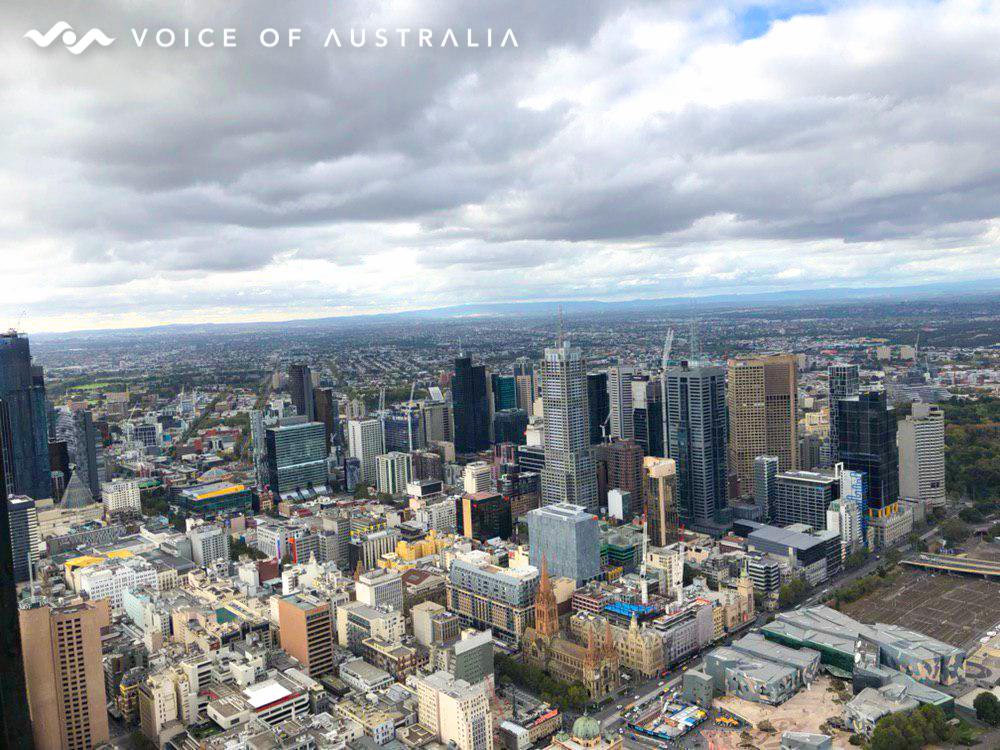 شهر ملبورن از بلندترین برج ویکتوریا