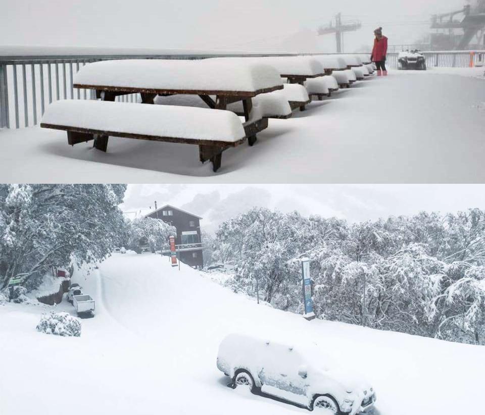 بارش برف و هجوم هوای سرد به ویکتوریا در روزهای آغازین تابستان