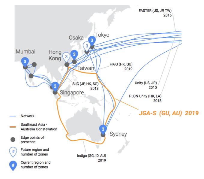 کابل زیردریایی گوگل ژاپن را به استرالیا متصل میکند