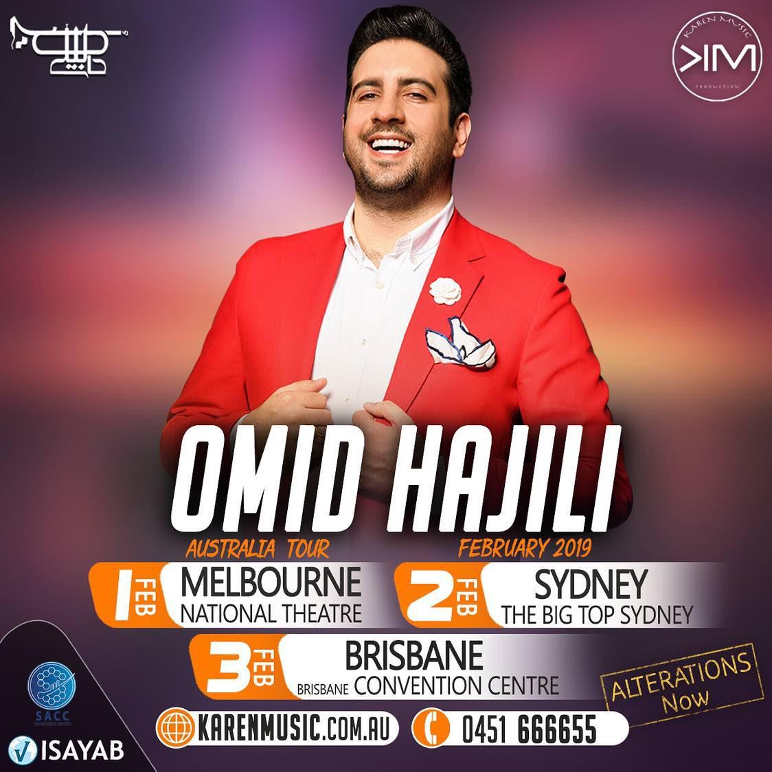 هفته آینده کنسرت پرانرژی امید حاجیلی در استرالیا