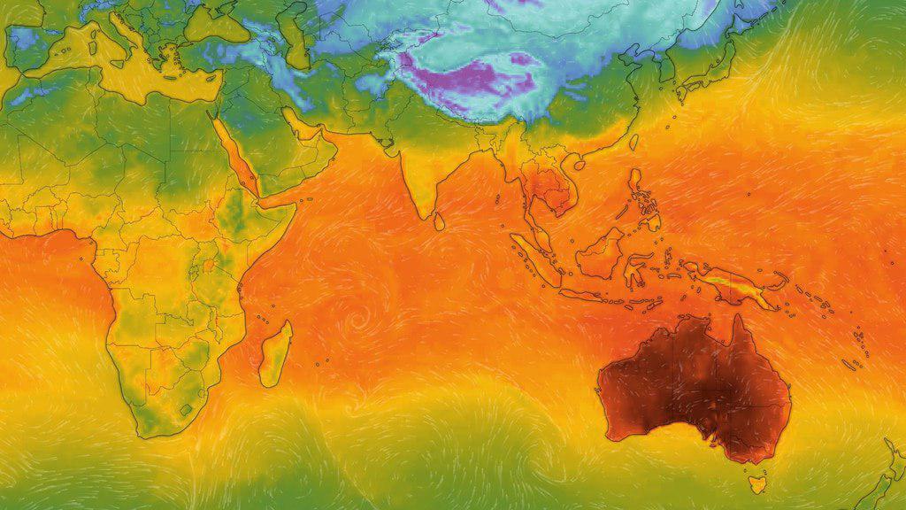 احتمال ثبت بالاترین رکورد دمایی در استرالیا