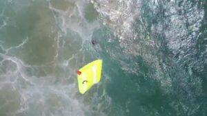 نجات شناگران با پهباد